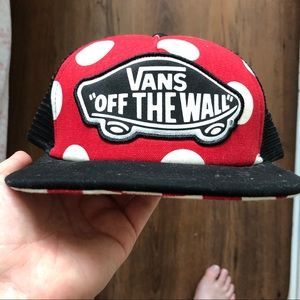 Rare Vans Minnie Mouse Pattern Flat Brim Hat